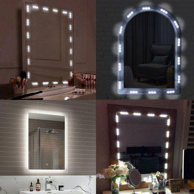 KWB LED Light Kits Dressing Mirror Light Kit Mirror Lamp Kit for Cosmetic MakeupLED Accessories<br>KWB LED Light Kits Dressing Mirror Light Kit Mirror Lamp Kit for Cosmetic Makeup<br><br>Beam Angle: 180<br>Brand: KWB<br>Bulb Included: Yes<br>Color Temperature or Wavelength: White :5000-6000k<br>Features: with Remote Control, Self-Adhesive<br>LED Quantity: 60<br>Length ( m ): 2<br>Light color: White<br>Light Source: LED<br>Package Content: 20 x LED Module Light, 1 x Single Color Controller, 1 x DC Connector , 1 x LED Power Supply<br>Package size (L x W x H): 12.00 x 6.00 x 5.00 cm / 4.72 x 2.36 x 1.97 inches<br>Package weight: 0.3000 kg<br>Product size (L x W x H): 10.00 x 5.00 x 4.00 cm / 3.94 x 1.97 x 1.57 inches<br>Product weight: 0.2000 kg<br>Type: Power Supply, Waterproof<br>Voltage: DC12V<br>Wattage (W): 10