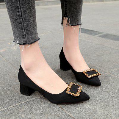 Working Womens  With Thick Black Heels ShoesWomens Pumps<br>Working Womens  With Thick Black Heels Shoes<br><br>Available Size: 34 35 36 37 38 39 40<br>Heel Type: Chunky Heel<br>Occasion: Office &amp; Career<br>Package Contents: 1 x Shoes ( pair )<br>Pumps Type: Basic<br>Season: Winter, Spring/Fall, Summer<br>Toe Shape: Pointed Toe<br>Toe Style: Closed Toe<br>Upper Material: Cotton Fabric<br>Weight: 0.4608kg