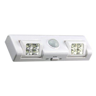 Wireless Motion Sensor Lights Night Lighting Battery Operation Steps LightNight Lights<br>Wireless Motion Sensor Lights Night Lighting Battery Operation Steps Light<br><br>Battery Quantity: 3xAA batteries not included<br>Color Temperature or Wavelength: 6000-6500K<br>Connector Type: Battery<br>Features: Human Body Sensor<br>Light Source Color: White<br>Light Type: Night Light<br>Package Contents: 1x 8LED Motion Sensor Light<br>Package size (L x W x H): 17.00 x 6.00 x 3.00 cm / 6.69 x 2.36 x 1.18 inches<br>Package weight: 0.1200 kg<br>Power Source: Battery<br>Product size (L x W x H): 16.00 x 5.00 x 2.50 cm / 6.3 x 1.97 x 0.98 inches<br>Product weight: 0.1100 kg<br>Quantity: 1<br>Style: Traditional<br>Wattage: 5W