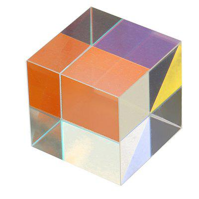 15mm x 15mm Optical Cube Prism Laser Beam Combination Toy - MULTI