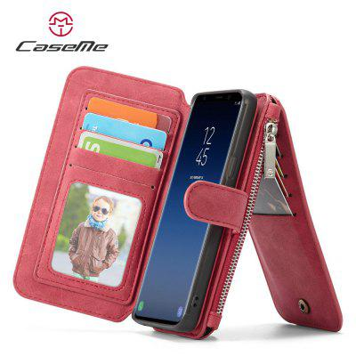 CaseMe for Samsung Galaxy S9 Plus Protective Leather Phone 2 in 1 Wallet Case caseme 14 card slots 2 in 1 zipper wallet split leather cover for iphone 6s plus 6 plus red