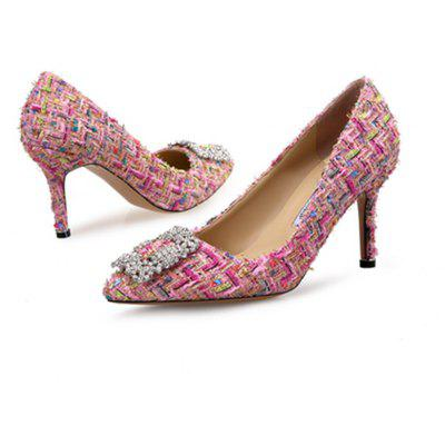VICONE Elegant Tweed Rhinestone ShoesWomens Pumps<br>VICONE Elegant Tweed Rhinestone Shoes<br><br>Available Size: 34-41<br>Embellishment: Metal<br>Heel Type: Stiletto Heel<br>Lining Material: Synthetic<br>Occasion: Party<br>Package Contents: 1xShoes(Pair)<br>Pumps Type: Basic<br>Season: Spring/Fall<br>Toe Shape: Pointed Toe<br>Toe Style: Closed Toe<br>Upper Material: Cloth<br>Weight: 1.0080kg