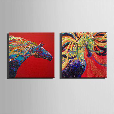 Special Design Frameless Paintings Colour of The Horse Print 2PCSPrints<br>Special Design Frameless Paintings Colour of The Horse Print 2PCS<br><br>Craft: Oil Painting<br>Form: Two Panels<br>Material: Canvas<br>Package Contents: 2 x Print<br>Package size (L x W x H): 32.00 x 33.00 x 3.50 cm / 12.6 x 12.99 x 1.38 inches<br>Package weight: 0.7000 kg<br>Painting: Without Inner Frame<br>Product size (L x W x H): 30.00 x 30.00 x 1.50 cm / 11.81 x 11.81 x 0.59 inches<br>Product weight: 0.6000 kg<br>Shape: Square<br>Style: Vintage, Fashion, Active, Formal, Casual, Novelty<br>Subjects: Fashion<br>Suitable Space: Indoor,Outdoor,Cafes,Kids Room,Kids Room,Study Room / Office