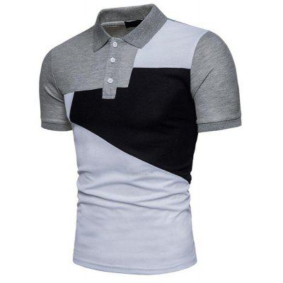 Men Hit Color Short Sleeve Casual Polo ShirtMens Short Sleeve Tees<br>Men Hit Color Short Sleeve Casual Polo Shirt<br><br>Collar: Polo Collar<br>Color Style: Contrast Color<br>Fabric Type: Broadcloth<br>Feature: Breathable<br>Material: Cotton<br>Package Contents: 1 x Polo Shirt<br>Pattern Type: Patchwork<br>Sleeve Length: Short<br>Style: Casual<br>Type: Slim<br>Weight: 0.2000kg