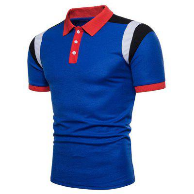 Mens Hit Color Short Sleeve Casual Polo ShirtMens Short Sleeve Tees<br>Mens Hit Color Short Sleeve Casual Polo Shirt<br><br>Collar: Polo Collar<br>Color Style: Contrast Color<br>Fabric Type: Broadcloth<br>Feature: Breathable<br>Material: Cotton, Cotton Blends<br>Package Contents: 1 x Polo Shirt<br>Pattern Type: Patchwork<br>Sleeve Length: Short<br>Style: Casual<br>Type: Slim<br>Weight: 0.2300kg