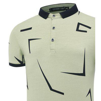 Fashion Personality Printing Summer Coat Lapel Men Short Sleeve Polo ShirtMens Short Sleeve Tees<br>Fashion Personality Printing Summer Coat Lapel Men Short Sleeve Polo Shirt<br><br>Collar: Turn-down Collar<br>Color Style: Solid<br>Fabric Type: Broadcloth<br>Material: Cotton, Spandex<br>Package Contents: 1 X Polo shirt<br>Pattern Type: Print<br>Sleeve Length: Short<br>Style: Fashion<br>Type: Slim<br>Weight: 0.3000kg