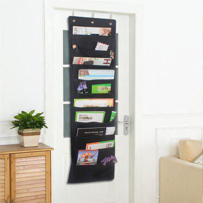 Door Magazine Multilayer with Oxford Cloth Hanging Bags Bedside Wall Hanging