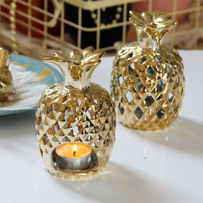 Candle Holder Creative Pineapple Design Desk Decoration CandlestickCrafts<br>Candle Holder Creative Pineapple Design Desk Decoration Candlestick<br><br>Color: Gold<br>Material: Ceramic<br>Package Contents: 1 x Candle Holder<br>Package size (L x W x H): 11.50 x 9.50 x 17.40 cm / 4.53 x 3.74 x 6.85 inches<br>Package weight: 0.2800 kg<br>Product size (L x W x H): 9.00 x 9.00 x 12.50 cm / 3.54 x 3.54 x 4.92 inches<br>Product weight: 0.1600 kg
