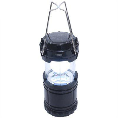 Outdoor LED Solar Power Collapsible Portable Rechargeable Hand Lamp Camping
