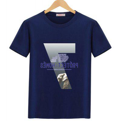 Casual Graphic Short Sleeve T-shirt short sleeve 3d graphic printed t shirt