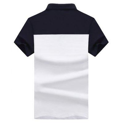 Men Striped Short Sleeves Polo ShirtMens Short Sleeve Tees<br>Men Striped Short Sleeves Polo Shirt<br><br>Collar: Square Collar<br>Color Style: Contrast Color<br>Fabric Type: Twill<br>Material: Cotton<br>Package Contents: 1 x T-shirt<br>Pattern Type: Patchwork<br>Sleeve Length: Short<br>Style: Fashion<br>Type: Slim<br>Weight: 0.3200kg