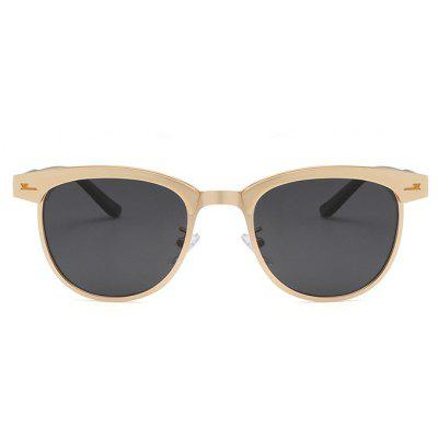 Classic Half Frame Metal Polarized Sunglasses for Women and MenMens Sunglasses<br>Classic Half Frame Metal Polarized Sunglasses for Women and Men<br><br>Frame material: Alloy<br>Gender: Unisex<br>Group: Adult<br>Lens material: Resin<br>Package Contents: 1 x Glasses<br>Package size (L x W x H): 17.00 x 15.00 x 9.00 cm / 6.69 x 5.91 x 3.54 inches<br>Package weight: 0.0500 kg<br>Product size (L x W x H): 14.30 x 13.90 x 4.90 cm / 5.63 x 5.47 x 1.93 inches<br>Product weight: 0.0250 kg<br>Style: Oval