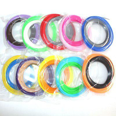3D Printer Pen Filament  Refill ABS 1.75mm 20 Color Pack 10 Meter 3d printer abs filament on reel white 1 75mm 1kg