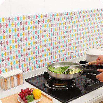 Kitchen Self adhesive Cooktop High Temperature Oil Wall Sticker 261604301