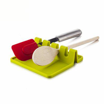 Kitchen Silicone Spoon Utensil Tableware MatOther Kitchen Accessories<br>Kitchen Silicone Spoon Utensil Tableware Mat<br><br>Material: Silicone<br>Package Contents: 1 x Tableware Mat<br>Package size (L x W x H): 15.00 x 14.00 x 3.00 cm / 5.91 x 5.51 x 1.18 inches<br>Package weight: 0.1500 kg<br>Product size (L x W x H): 14.00 x 13.00 x 2.00 cm / 5.51 x 5.12 x 0.79 inches<br>Product weight: 0.1000 kg<br>Type: Other Kitchen Accessories