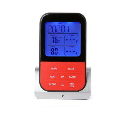 Remote BBQ Smoker Grill Oven  Digital Meat Thermometer