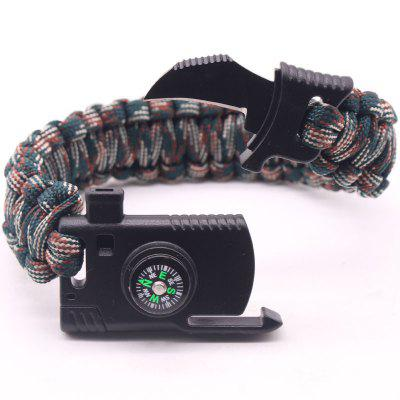Multi Function Paracord Outdoor Camping Rescue Emergency Rope Survival Bracelets