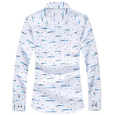 New Mens Print Long Sleeve ShirtMens Shirts<br>New Mens Print Long Sleeve Shirt<br><br>Collar: Turn-down Collar<br>Fabric Type: Broadcloth<br>Material: Cotton, Polyester<br>Package Contents: 1xShirt<br>Shirts Type: Casual Shirts<br>Sleeve Length: Full<br>Weight: 0.3000kg