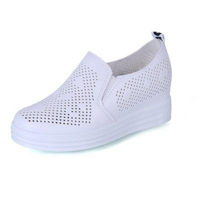 2018 High White  Empty and Breathable Single Shoes in New Style