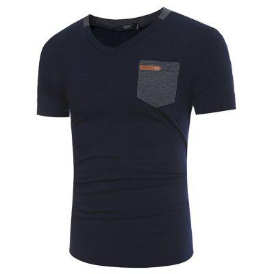 Mens New Fashion Pocket Leather Design Casual Short-Sleeved T-ShirtMens Short Sleeve Tees<br>Mens New Fashion Pocket Leather Design Casual Short-Sleeved T-Shirt<br><br>Collar: V-Neck<br>Material: Cotton, Polyester<br>Package Contents: 1x T-shirts<br>Pattern Type: Solid<br>Sleeve Length: Short Sleeves<br>Style: Casual<br>T-shirts: None<br>Weight: 0.1950kg