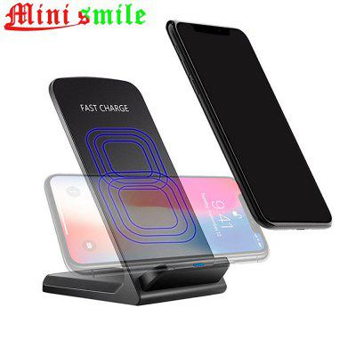 Minismile 10W Dual-coil Fast Wireless Charger Stand with Quick Charge Adapter