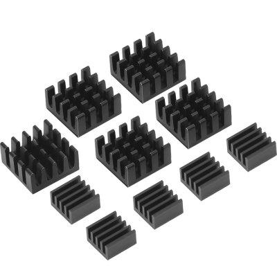 10pcs Aluminum Heatsink Cooler Cooling Kit for Raspberry Pi 3/Pi 2/ Pi Model B+