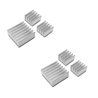 6pcs Aluminum Heatsink Cooler Cooling Kit for Raspberry Pi