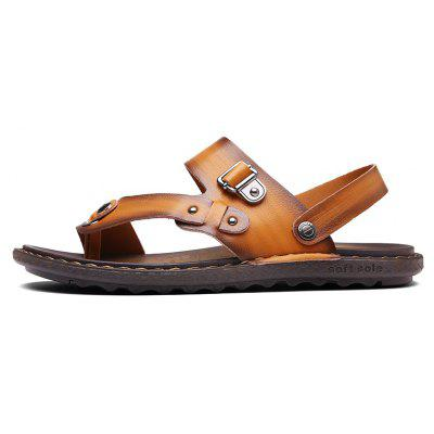 Men Microfiber Leather Large Size Clip Toe Wear-resistant Casual SandalsMens Sandals<br>Men Microfiber Leather Large Size Clip Toe Wear-resistant Casual Sandals<br><br>Available Size: 38-43<br>Embellishment: None<br>Gender: For Men<br>Outsole Material: Rubber<br>Package Contents: 1xShoes(Pair)<br>Pattern Type: Solid<br>Season: Summer<br>Slipper Type: Outdoor<br>Style: Concise<br>Upper Material: PU<br>Weight: 1.2000kg