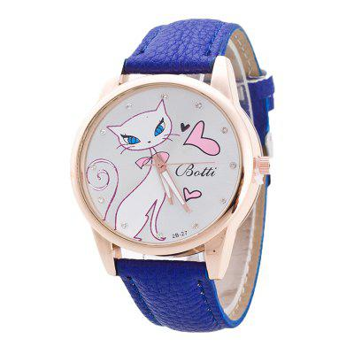 White Love Cat Women's Watch