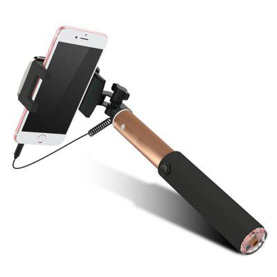 Universal Mirror Wired Extendable Selfie Stick Bluetooth Tripod Monopod xiaomi selfie stick tripod black