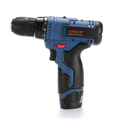 ANDER 12-Volt Max 3/8-Inch 2-Speed Drill/Driver Kit  with 2 Lithium-Ion Batter