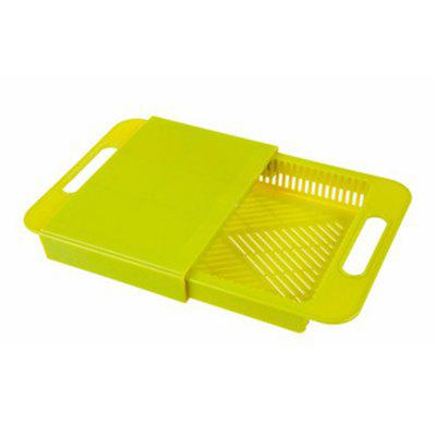 Multifunctional Thickening Adjustable Plastic Basket Storage Tank Kitchen BoardOther Kitchen Accessories<br>Multifunctional Thickening Adjustable Plastic Basket Storage Tank Kitchen Board<br><br>Available Color: Blue,Green<br>Material: PP<br>Package Contents: 1 x Multifunction Cutting Board<br>Package size (L x W x H): 38.00 x 25.00 x 6.00 cm / 14.96 x 9.84 x 2.36 inches<br>Package weight: 0.6000 kg<br>Product size (L x W x H): 36.50 x 23.00 x 4.50 cm / 14.37 x 9.06 x 1.77 inches<br>Product weight: 0.4600 kg<br>Type: Other Kitchen Accessories