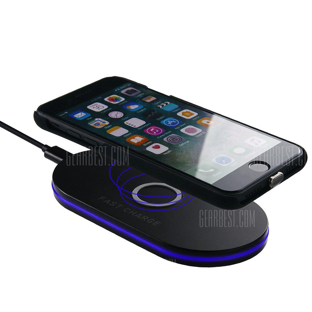 Fast Charge Wireless Charger Pad for iPhone X 8 Samsung Galaxy S8 S9 Note 8
