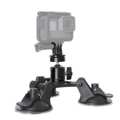 Car Suction Cup Triangle Holder with 360 Degree Ball Head Sucker for Hero 6   5 262117601