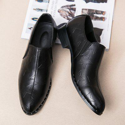 Leather Shoes Men Business Wedding Fashion Breathable Star Sneakers fashion business men