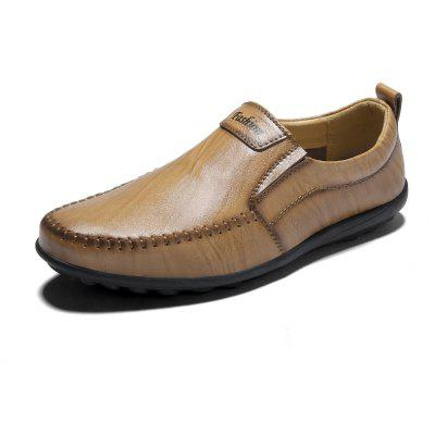 Breathable Leather Business Formal Fashion Shoes Comfort FlatsSneakers