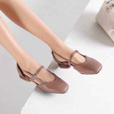 The New Square Head Is Low-heels Wild Womens SandalWomens Sandals<br>The New Square Head Is Low-heels Wild Womens Sandal<br><br>Available Size: 32-43<br>Closure Type: Buckle Strap<br>Gender: For Women<br>Heel Type: Others<br>Occasion: Casual<br>Package Content: 1 x Shoes(pair)<br>Pattern Type: Solid<br>Sandals Style: Ankle Strap<br>Style: Fashion<br>Upper Material: PU<br>Weight: 0.8320kg