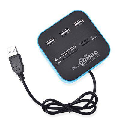 USB 2.0 SD/TF Card ReaderOther Consumer Electronics<br>USB 2.0 SD/TF Card Reader<br><br>Package Contents: 1x 3 Ports USB Hub Combo 2.0<br>Package size (L x W x H): 14.00 x 9.00 x 4.50 cm / 5.51 x 3.54 x 1.77 inches<br>Package weight: 0.0150 kg<br>Product size (L x W x H): 7.50 x 7.50 x 3.00 cm / 2.95 x 2.95 x 1.18 inches<br>Product weight: 0.0125 kg