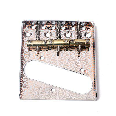 Silver Copper 3 Saddle Bridge for TL Electric Guitar copper bathroom shelf basket soap dish copper storage holder silver