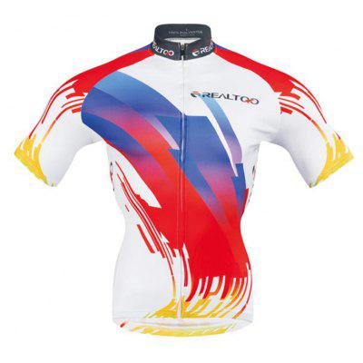 Realtoo Short sleeve Mens Cycling Jersey Suit for RidingWeight Lifiting Clothes<br>Realtoo Short sleeve Mens Cycling Jersey Suit for Riding<br><br>Feature: Quick Dry, Breathable<br>For: Cycling<br>Material: Polyester, Spandex<br>Package Contents: 1 x Cycling Suit<br>Package size (L x W x H): 1.00 x 1.00 x 1.00 cm / 0.39 x 0.39 x 0.39 inches<br>Package weight: 0.4500 kg<br>Product weight: 0.4400 kg<br>Suitable Crowds: Men<br>Type: Short Sleeves Cycling Suit