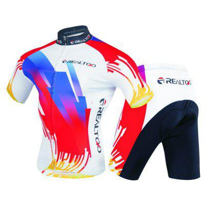 Realtoo Short sleeve Men's Cycling Jersey Suit for Riding