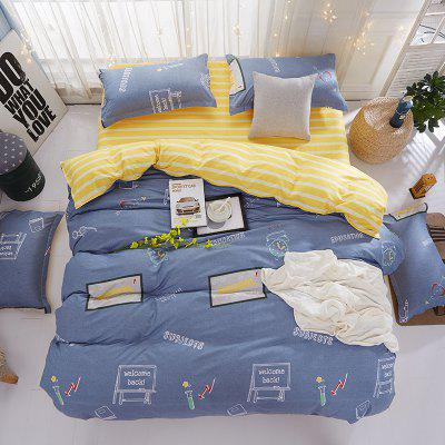 Modern School Themed Supple Cozy Bedsheet SetBedding Sets<br>Modern School Themed Supple Cozy Bedsheet Set<br><br>Package Contents: 1 x Duvet Cover, 1 x Bed Sheet, 2 x Pillowcase or 1 x Duvet Cover, 1 x Bed Sheet, 1 x Pillowcase<br>Package size (L x W x H): 40.00 x 32.00 x 5.00 cm / 15.75 x 12.6 x 1.97 inches<br>Package weight: 0.9000 kg<br>Pattern Type: Novelty<br>Product size (L x W x H): 40.00 x 32.00 x 5.00 cm / 15.75 x 12.6 x 1.97 inches<br>Product weight: 0.9000 kg<br>Style: Cartoon / Anime