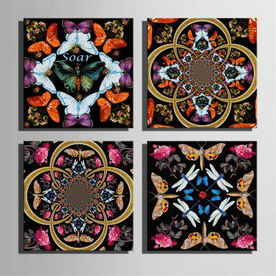 Special Design Frameless Paintings Insects and Flowers Print 4PCSPrints<br>Special Design Frameless Paintings Insects and Flowers Print 4PCS<br><br>Craft: Print<br>Form: Four Panels<br>Material: Canvas<br>Package Contents: 4 x Print<br>Package size (L x W x H): 52.00 x 53.00 x 6.50 cm / 20.47 x 20.87 x 2.56 inches<br>Package weight: 2.5000 kg<br>Painting: Without Inner Frame<br>Product size (L x W x H): 50.00 x 50.00 x 1.50 cm / 19.69 x 19.69 x 0.59 inches<br>Product weight: 2.4000 kg<br>Shape: Square<br>Style: Vintage, Fashion, Active, Formal, Casual, Novelty<br>Subjects: Fashion<br>Suitable Space: Indoor,Outdoor,Cafes,Kids Room,Kids Room,Study Room / Office