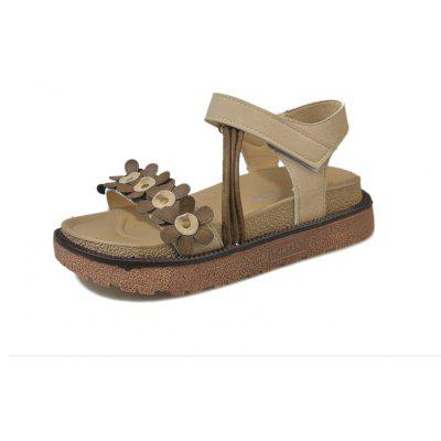 Simple All-Match Waterproof Leather Summer Thick Soled Sandals