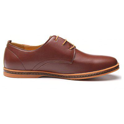 Men Casual Big Size Business Lace Up Flat Oxford ShoesFormal Shoes<br>Men Casual Big Size Business Lace Up Flat Oxford Shoes<br><br>Available Size: 40-46<br>Closure Type: Lace-Up<br>Embellishment: None<br>Gender: For Men<br>Occasion: Dress<br>Outsole Material: TPR<br>Package Contents: 1 x Shoes (pair)<br>Pattern Type: Solid<br>Season: Spring/Fall<br>Toe Shape: Round Toe<br>Toe Style: Closed Toe<br>Upper Material: PU<br>Weight: 1.5972kg