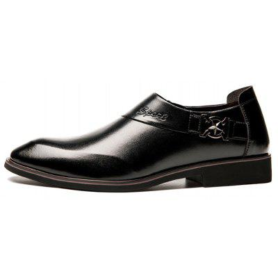 Men Fashion Leather Pointed Toe Slip-on Formal Dress ShoesFormal Shoes<br>Men Fashion Leather Pointed Toe Slip-on Formal Dress Shoes<br><br>Available Size: 39-44<br>Closure Type: Slip-On<br>Embellishment: Metal<br>Gender: For Men<br>Occasion: Dress<br>Outsole Material: Rubber<br>Package Contents: 1 x Shoes (pair)<br>Pattern Type: Solid<br>Season: Spring/Fall<br>Toe Shape: Pointed Toe<br>Toe Style: Closed Toe<br>Upper Material: Microfiber<br>Weight: 1.2400kg