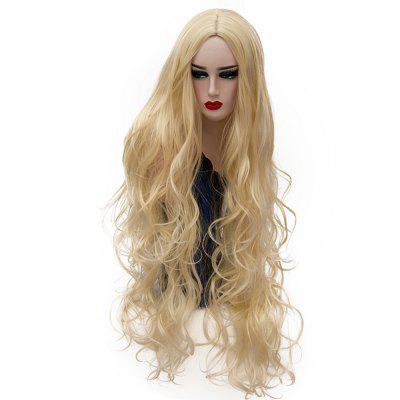 Synthetic Fashion Gold Wig Long Curly Hair High Temperature for Women 31 inch