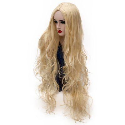 Synthetic Fashion Gold Wig Long Curly Hair High Temperature for Women 31 inch 1 8 bjd sd doll wigs for lati dolls 15cm high temperature wire long curly synthetic hair for dolls accessorries high quality wig