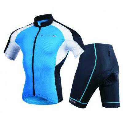 Realtoo Men's Short Sleeves Cycling Jersey Suit for Riding