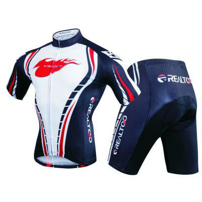 Realtoo Shorts Sleeves Cycling Jacket with Pants Bike Clothing Suits